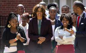 michelle obama urges college attendance in howard u by