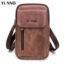 <b>2018</b> New Fashion <b>YIANG</b> Brand Men Bag <b>Genuine Leather</b> Single ...