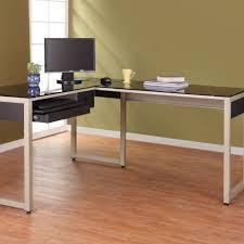 glass l shaped office desk. shape office desk t m l f modern black stained wooden desktop computer glass shaped s