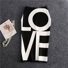 Ladies <b>fashion English letters</b> LOVE printed <b>skirt</b> | Shopee Philippines