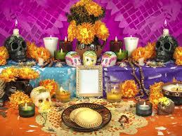 Resultado de imagen para ofrenda del dia de muertos tradicional