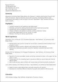 insurance broker resume sample  insurance agent resume objective    resume templates commercial real estate broker   insurance