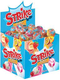 <b>Карамель на палочке</b> Strike с молочным вкусом, 11 г – купить по ...