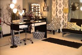 complete the bedroom decoration with vanity modern luxury makeup vanity design with black and white best lighting for makeup vanity