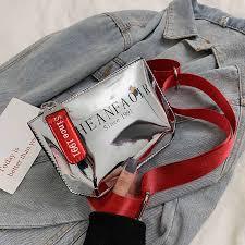 ETAILL Fashion 2018 <b>Women</b> Fanny Waist <b>Bag</b> Letter Wide Strap ...