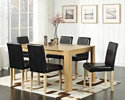 Faux Leather Dining Room Chairs Seat Dining Tables Round Extendable Dining Table And Chairs