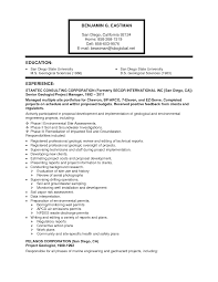 geology resume examples resume format  geologist