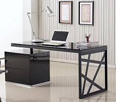 black modern desk black office desk
