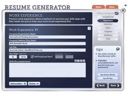 resume generator   readwritethinkresume generator