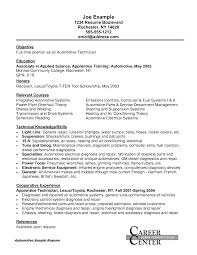 auto resumes info auto mechanic example resume basic auto technician or mechanic