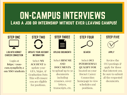 on campus interviews managing your interviews