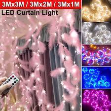 <b>3M X 3M</b>/2M/1M LED Curtain String Light USB Wedding Party ...