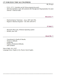 resume for electrical engineer resume for electrical engineer 4626