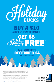 holiday bucks are back goodwill industries holiday bucks poster