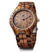 LeeEV <b>Men Luxury</b> Natural Sandal <b>Wood Watch</b> Vintage Quartz ...