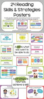 17 best ideas about reading skills ar reading 24 reading comprehension skills and strategies posters use them as references during alouds or