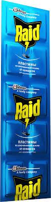 RAID® <b>Пластины</b> от комаров на алюминиевой основе