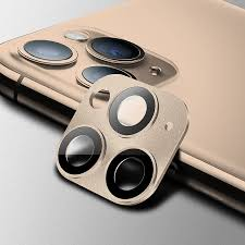 Matte Metal Frame + Tempered Glass Camera Lens Protector for ...