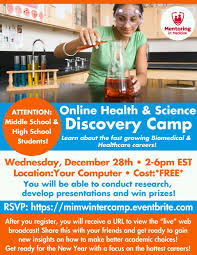 online health and science camp mentoring in medicine attention middle school and high school students