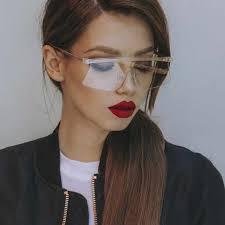 Yaobo <b>Oversized Rimless Sunglasses Women</b> Fashion Gradient ...