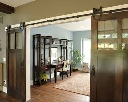 pole barn homes home office traditional with blue and brown barn doors blue brown home office
