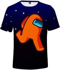 Pandolah <b>Among us Men's</b> Shirt, 3D Print, Short Sleeve <b>T</b>-<b>shirt</b> ...