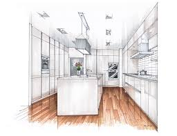 interior design rendering kitchen