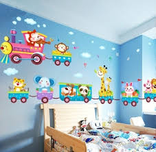 Cartoon <b>Animal Train Wall Decal</b> Stickers PVC Vinyl Art Baby ...