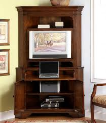 computer armoire from red cherry wood with tv stand for your compact home office armoire office desk