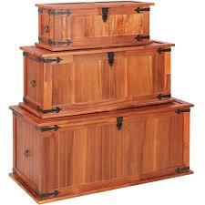 <b>Storage Chests 3 pcs</b> Solid Acacia Wood -