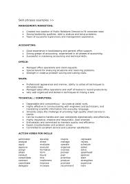 resume skills section list how  seangarrette coskill phrases examples for management or marketing and accounting with action verbs for skills  x   resume skills