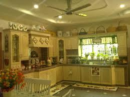 medium wood golden kitchen