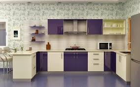 modular kitchen colors: homelane modular kitchen glossy purple and white