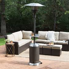output stainless patio heater: red ember mocha amp stainless steel commercial patio heater with table patio heaters at hayneedle