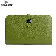 <b>GENMEO</b> Brand <b>New Arrival</b> Genuine Leather Zipper Wallet Women ...