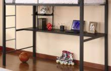 twin size wrought iron loft bed with long and narrow desk bedroom endearing rod iron