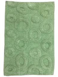 """<b>Коврик для ванной</b> """"Круги"""", зелёный 50*80 см <b>FORA</b> 7263244 в ..."""