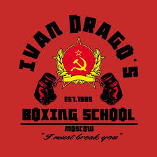 <b>Ivan Drago's boxing school</b> | Magliette, Cinema, Draghi