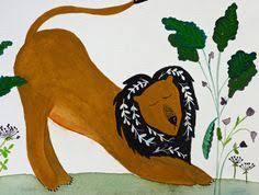 Children's art, original <b>watercolor</b> painting, nursery art, winter <b>fox</b> ...