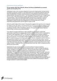 economics essay on brazil   globalisation   year  hsc    economics essay on brazil   globalisation