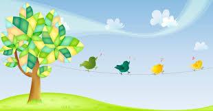 Resultado de imagen para arboles animados coloridos