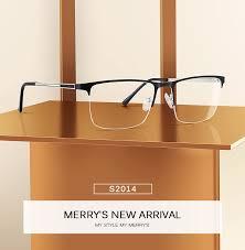 MERRYS DESIGN Men Titanium Glasses Frame <b>Ultralight</b> Square ...