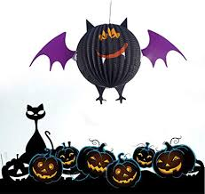 <b>Halloween Decorations Spider</b> Pumpkin Paper Halloween Hanging ...