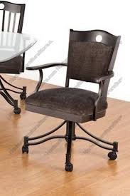 casual dining chairs with casters: tempo industries carlyle swivel amp tilt dining arms chair with casters