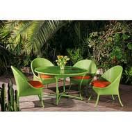 Стол <b>обеденная группа</b> Ландыши, <b>плетеная</b> мебель из ротанга