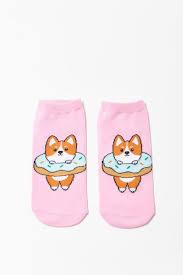 <b>Corgi</b> Graphic Ankle Socks