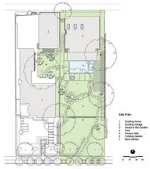 Site Plan  House in the Garden  Dallas by Cunningham Architects