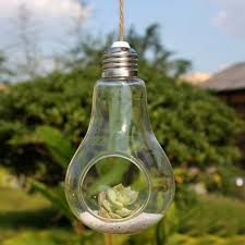 glass bulb lamp shape flower water plant hanging vase hydroponic container pot home office wedding decor buy shape home office