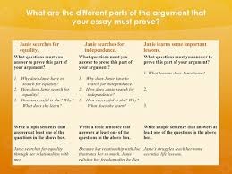 how to help students brainstorm and organize an essayslide  argue
