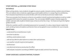 GCSE English language    tips for creative writing TES